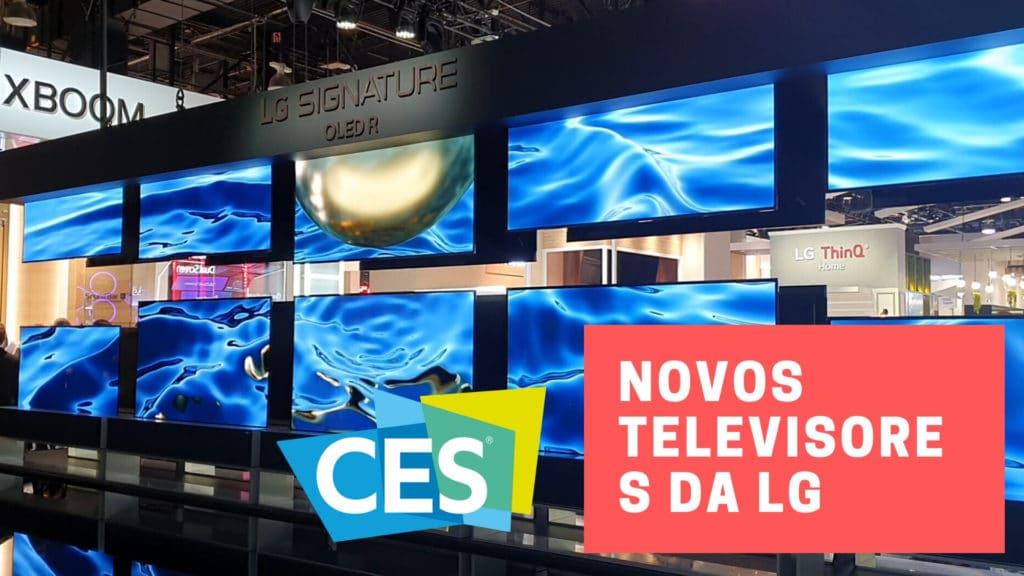 Novos televisores da LG