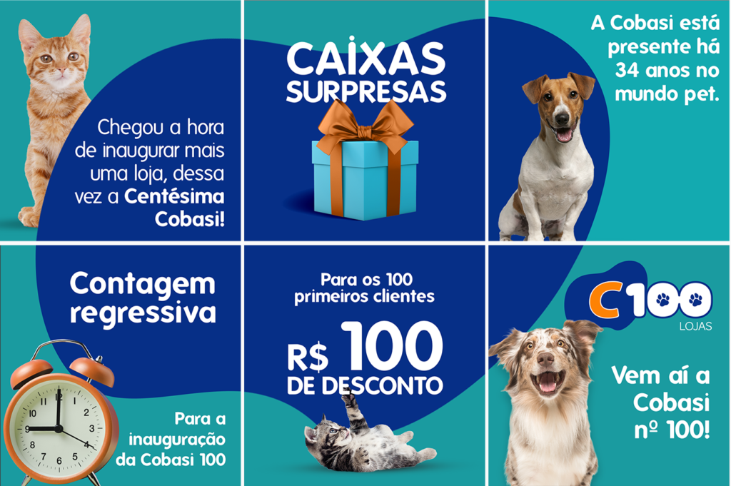 F&Q assina campanha digital da centésima loja Cobasi