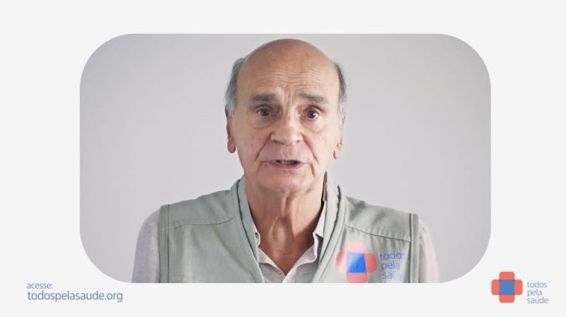 """Drauzio Varella estrela campanha criada pela Africa para o movimento """"Todos pela Saúde""""."""