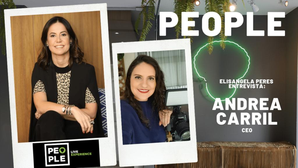 Elisangela Peres entrevista Andrea Carril, da agência People