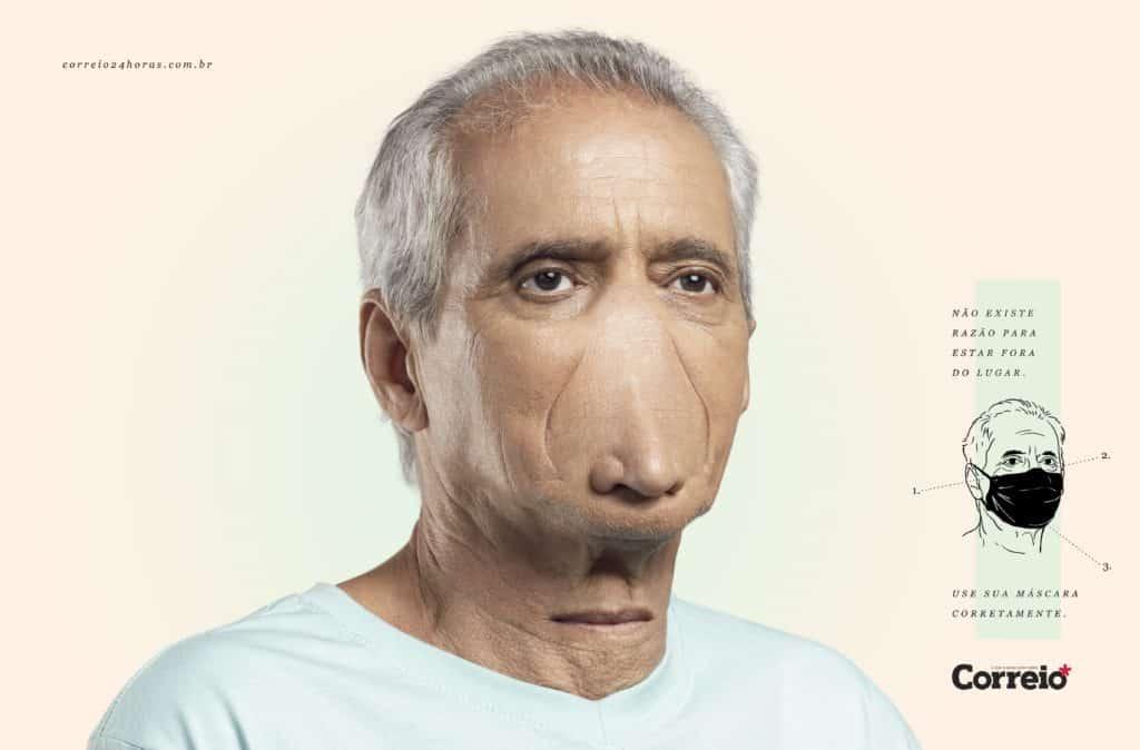 Campanha da Propeg alerta para uso correto das máscaras