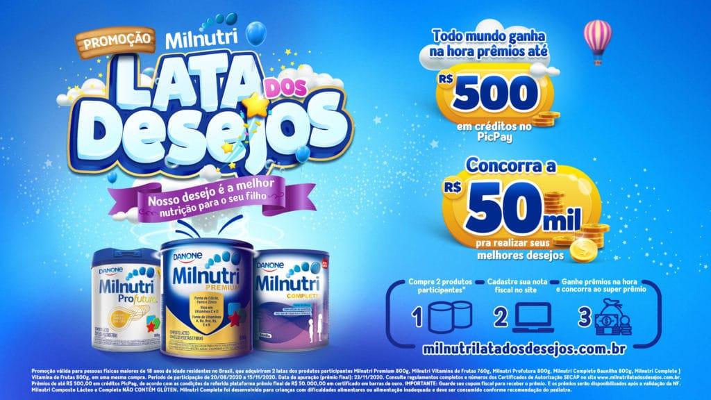 """MKT House desenvolve promoção """"Milnutri Lata dos Desejos"""" para Danone Nutricia"""