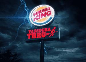 Vassoura Thru, nova promoção do Burger King, dá Whopper de graça para os consumidores.