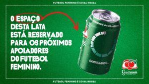 Guaraná Antarctica vai estampar logo das marcas que apoiarem o futebol feminino.