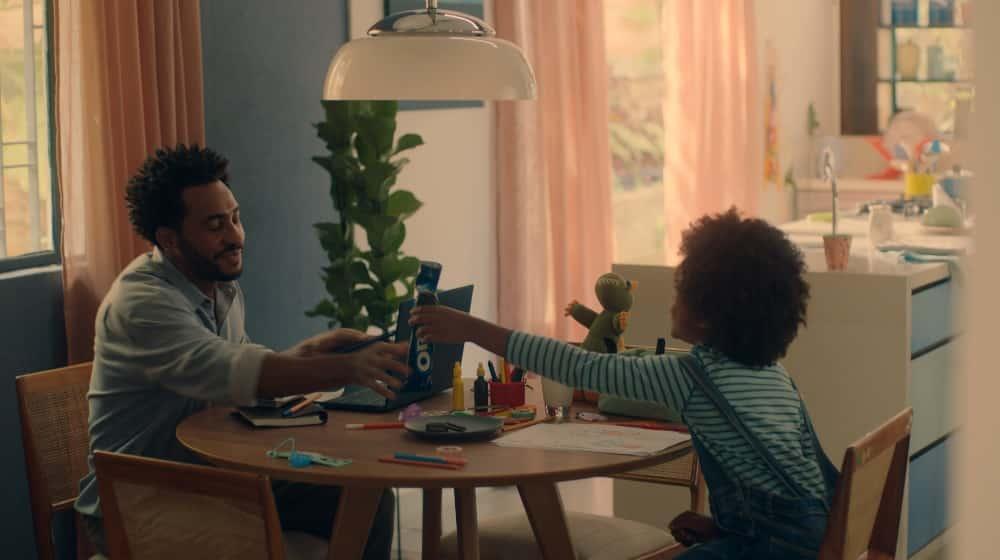 Oreo reforça a importância dos momentos em família.