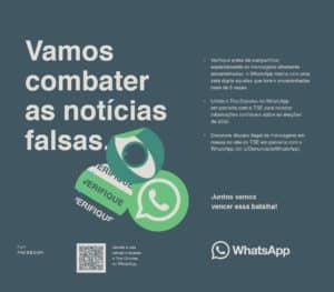 WhatsApp lança campanha de combate a notícias falsas durante as eleições municipais 2020.