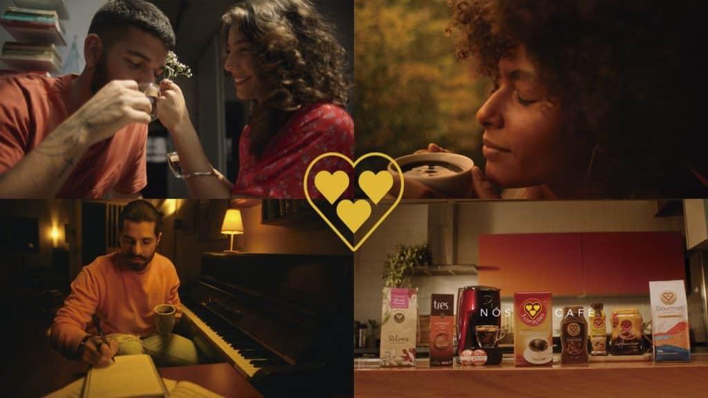 3 Corações lança nova campanha com declaração de amor ao café.