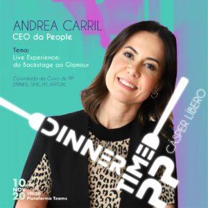 Graduação de Publicidade da Cásper Líbero convida Andrea Carril, CEO da People, para o DinnerTimePP