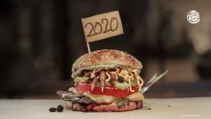 Burger King lança sanduíche com gosto de 2020.
