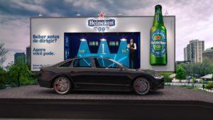 Heineken 0.0 leva outdoor em formato de bar para as ruas do Rio de Janeiro.