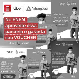 Vai fazer a prova do ENEM? Campanha da KROTON, em parceria com a Três Meios, divulga doação de vouchers do UBER