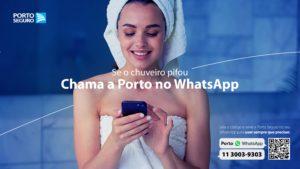 Porto Seguro incentiva atendimento por WhatsApp, em campanha criada pela REF+