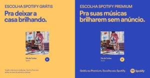 Spotify celebra o poder de escolha do usuário.