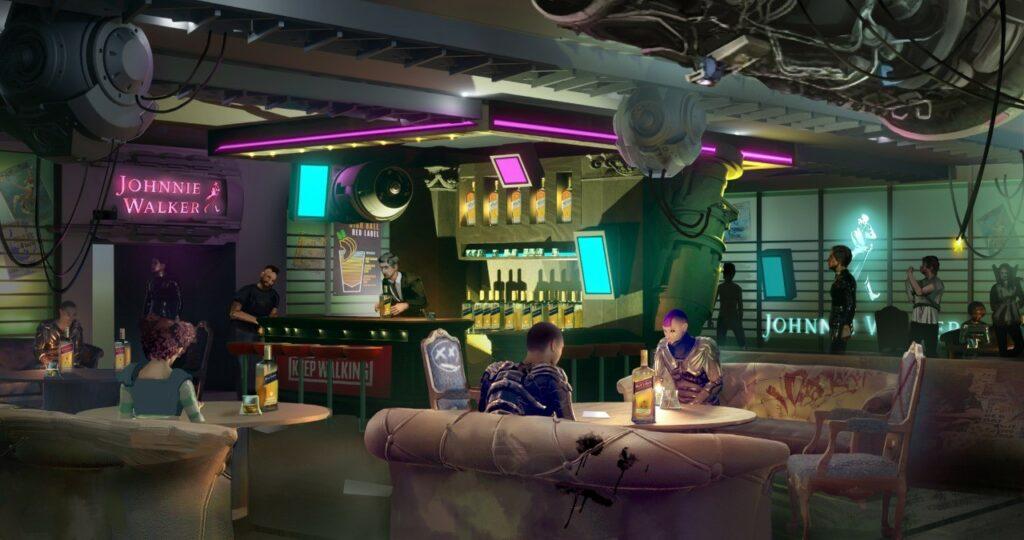 Johnnie Walker faz ativação no jogo Hydra 1008.