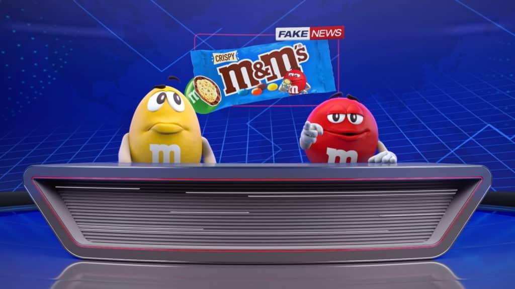 Vermelho e Amarelo tentam esconder o lançamento do M&M'S Crispy.