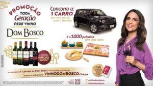 Vinho Dom Bosco lança campanha com Chris Flores.