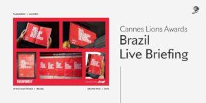 "Cannes Lions Festival organiza webinar ""Live Briefing Brazil""."