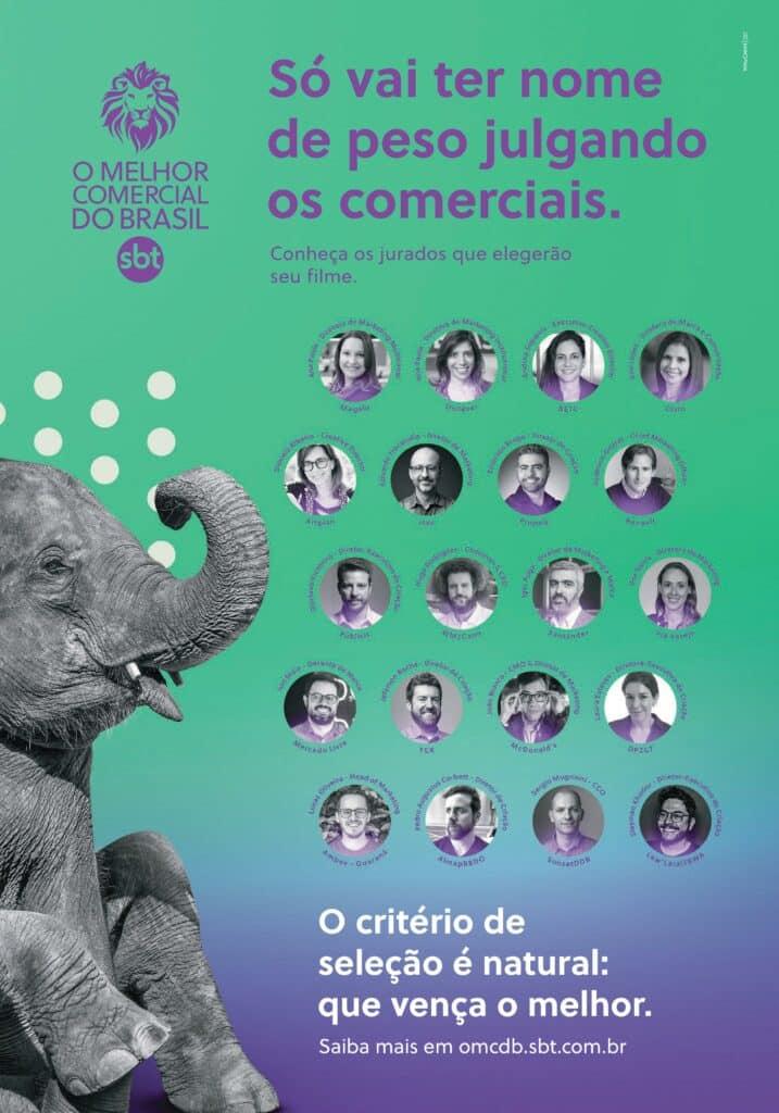 SBT apresenta júri do prêmio O Melhor Comercial do Brasil 2020.