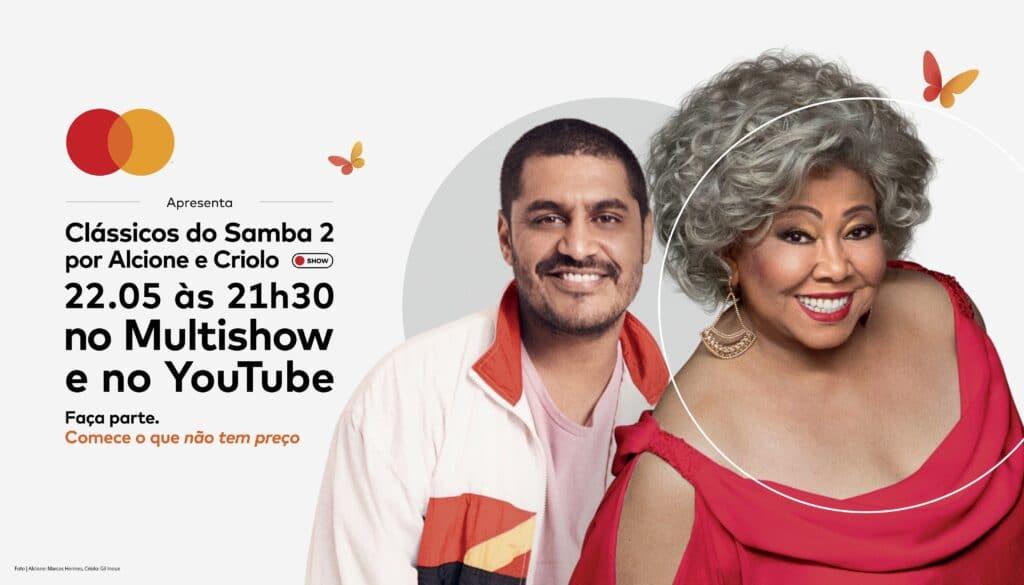 Alcione e Criolo se unem em encontro musical inédito e cantam clássicos do samba em iniciativa da Mastercard para combater a fome