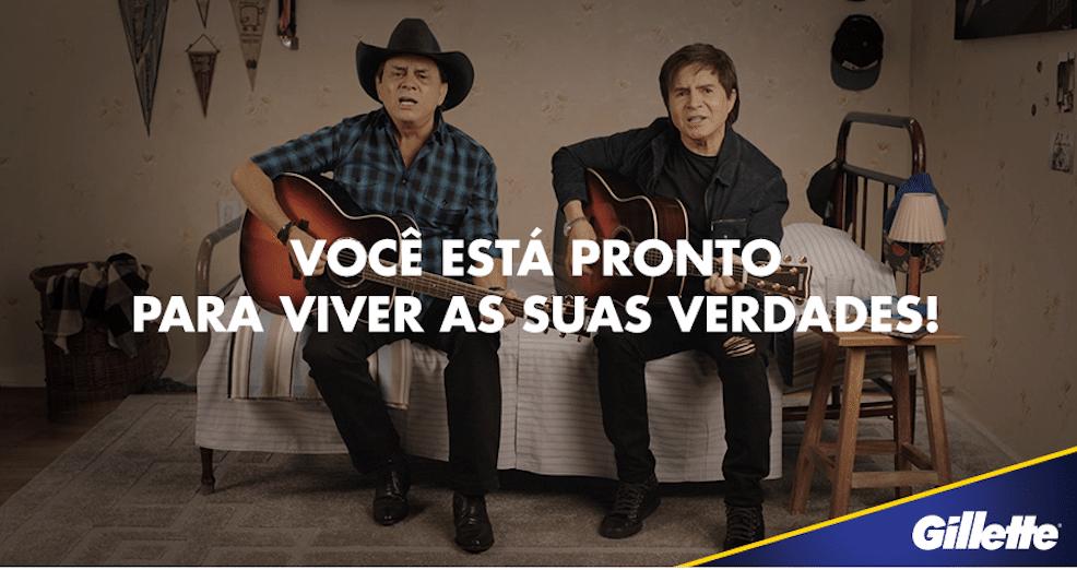 """Gillette apresenta campanha """"Evidências"""" em parceria com Chitãozinho & Xororó."""