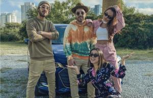 Artistas viajam a bordo do Chevrolet Onix