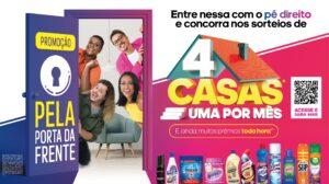 """A Reckitt Hygiene Comercial lança neste mês a campanha """"Pela Porta da Frente"""", premiando com uma casa por mês e diversos prêmios por hora."""