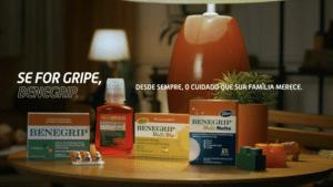 """A Benegrip lança sua primeira campanha com a FCB Health Brasil: """"Se for gripe, Benegrip. Desde sempre o cuidado que sua família merece""""."""