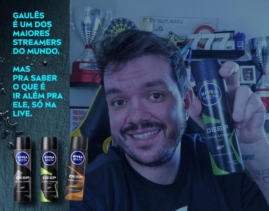 A Nivea iniciou sua campanha de NIVEA MEN DEEP patrocinando o maior streamer do Brasil: Gaules, o novo influenciador da marca.