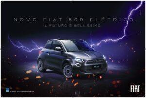 O Fiat 500e, primeiro carro elétrico da Fiat, chegará ao Brasil no dia 3 de agosto cercado por uma ação com o público e muita eletricidade.