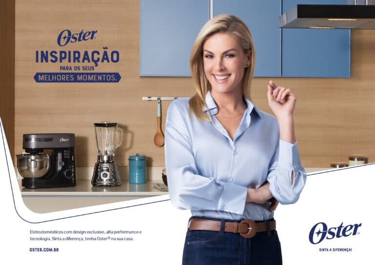 A Oster anuncia a apresentadora e influenciadora Ana Hickmann como embaixadora, que estará à frente das ativações e campanhas da marca.
