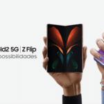 Samsung destaca estilo, elegância e funcionalidade dos smartphones dobráveis.