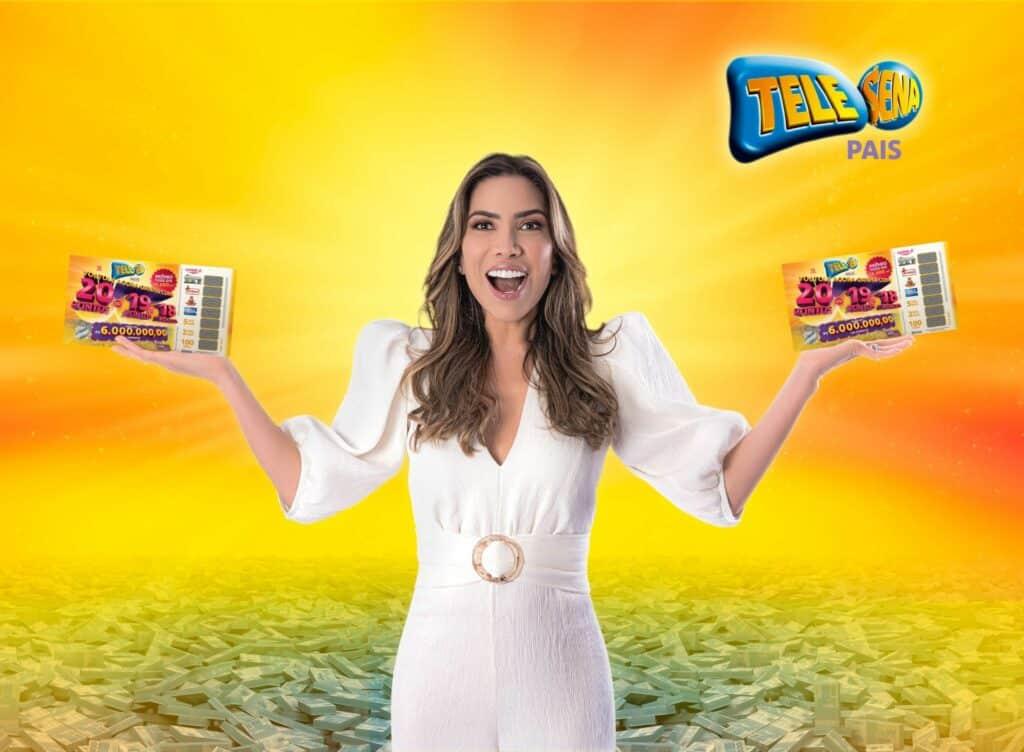 Patrícia Abravanel estrela campanha da Tele Sena de Pais.