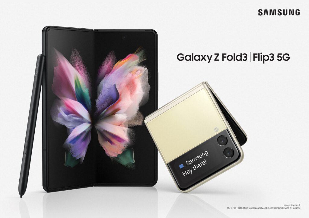 Samsung apresenta globalmente os novos smartphones Galaxy Z Fold3 5G e Galaxy Z Flip3 5G