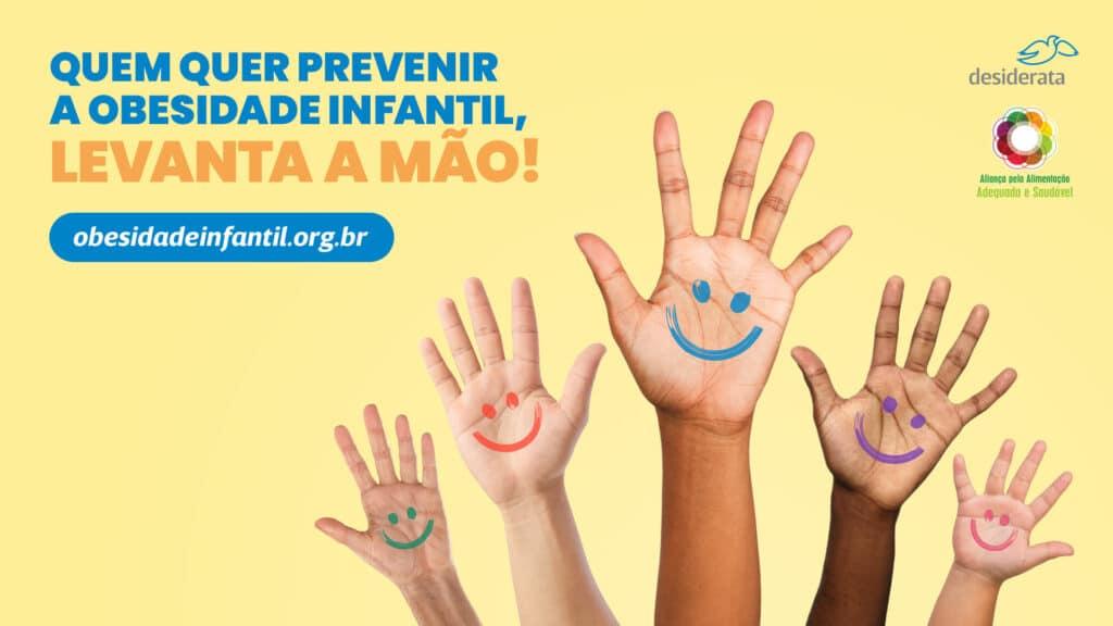 O Instituto Desiderata cria campanha que convida a população carioca a apoiar a aprovação de lei que luta para conter a obesidade infantil.