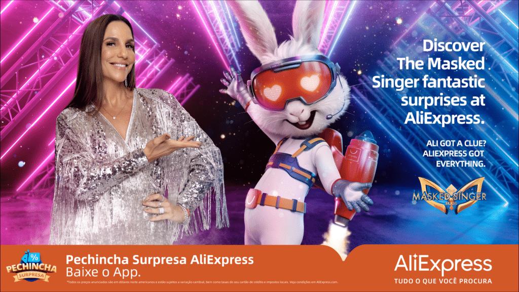 O AliExpress será um dos patrocinadores do novo reality da Rede Globo, o The Masked Singer, que será apresentado por Ivete Sangalo.