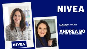 Andrea Bo, diretora de marketing da Nivea, em entrevista com Elisangela Peres