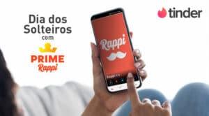 """O Rappi e o Tinder irão comemorar o Dia dos Solteiros promovendo """"matches"""", que prometem diversão para tornarem a data mais especial."""