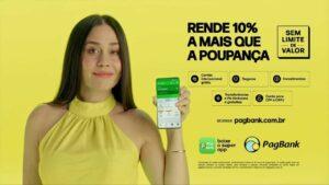 O PagBank PagSeguro apresenta campanha publicitária da Conta Rendeira PagBank. O produto oferece benefícios de rendimento garantido.