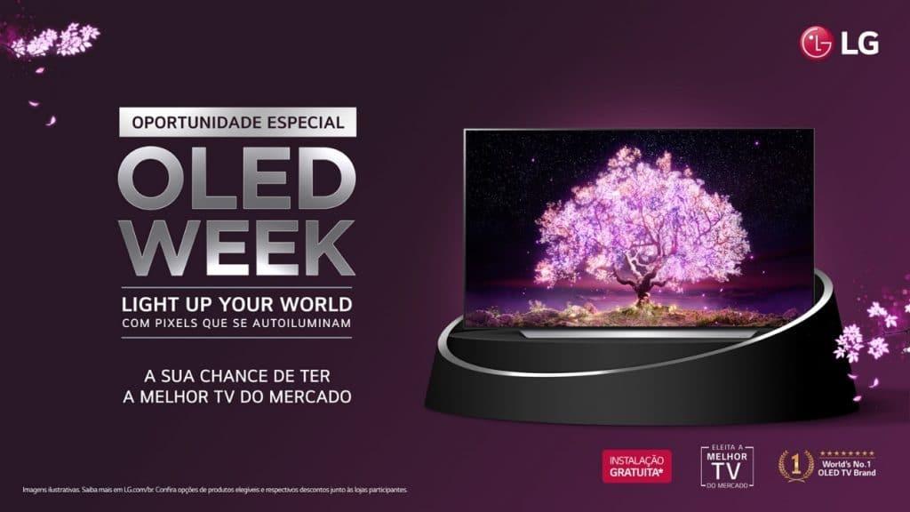 """A LG Eletronics comunica o período promocional """"OLED Week"""" que oferece condições especiais na compra de televisões da linha LG OLED TV."""