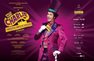 """A Cacau Show anuncia o patrocínio do musical """"Charlie e a Fantástica Fábrica de Chocolate"""", realizado pelo Instituto Artium de Cultura."""