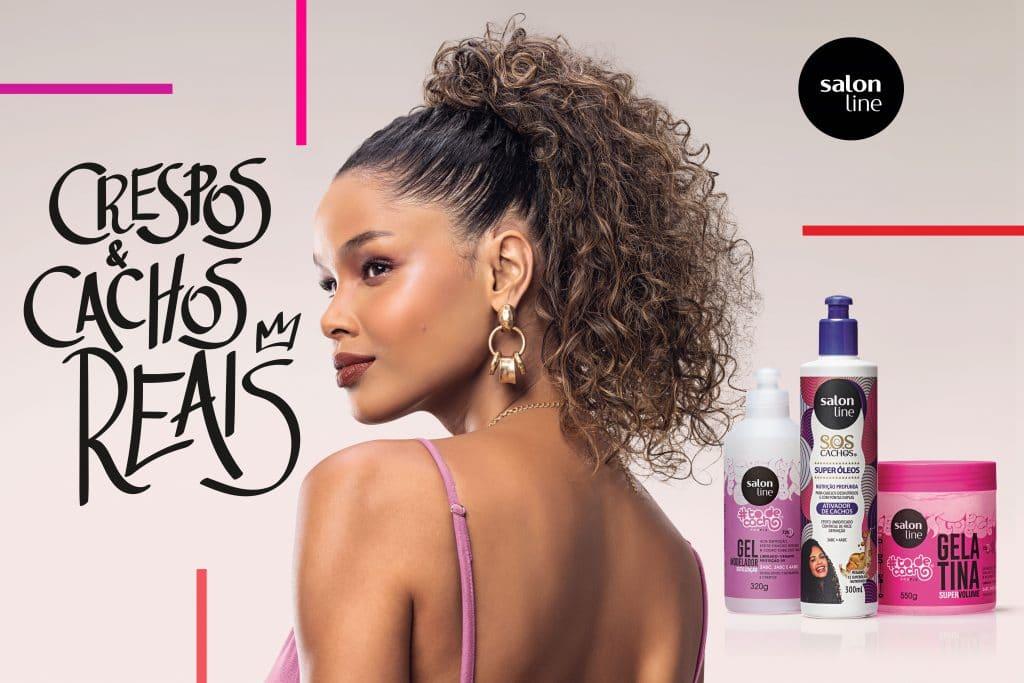 Salon Line exalta cabelo cacheado e crespo.