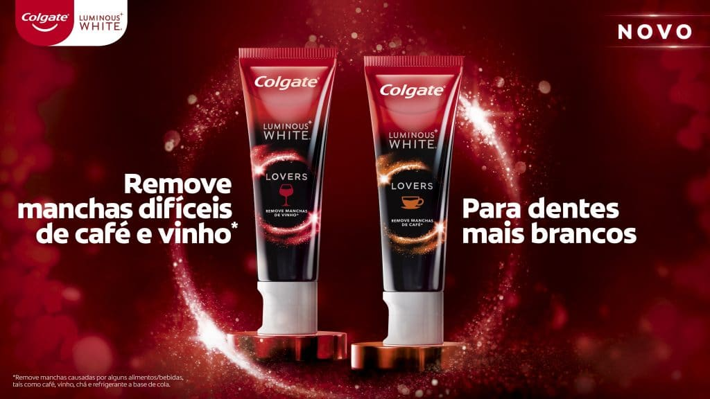 Colgate anuncia Luminous White Lovers para apaixonados por vinho e café.