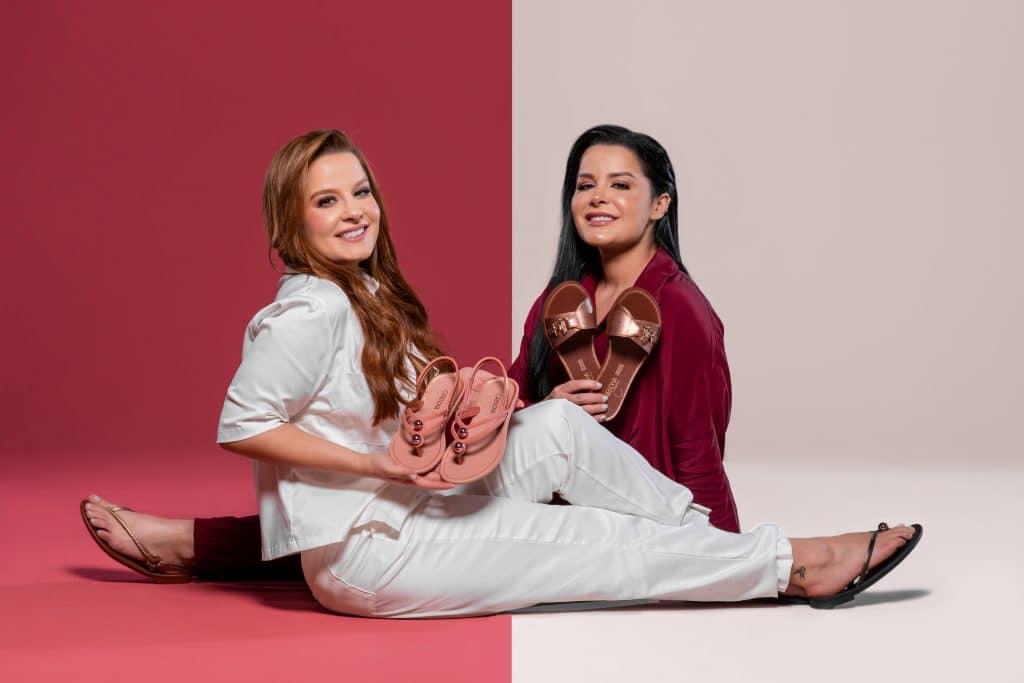 A Grendha, da Grendene, lança, em parceria com a dupla Maiara e Maraisa, a linha Identidades, que exaltam a diversidade feminina.