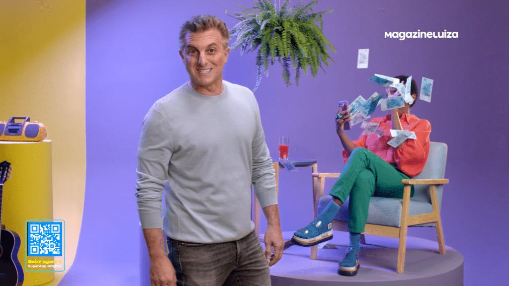 """O Magalu lança campanha """"Cashback do Milhão"""", parte da estreia do Domingão com Huck, na TV Globo, dentro do """"Quem Quer Ser Um Milionário""""."""