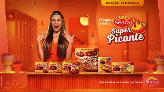 A Seara lança sua nova linha Seara Super Picante, e para estrelar a campanha da edição limitada, convidou a estrela Juliette Freire.