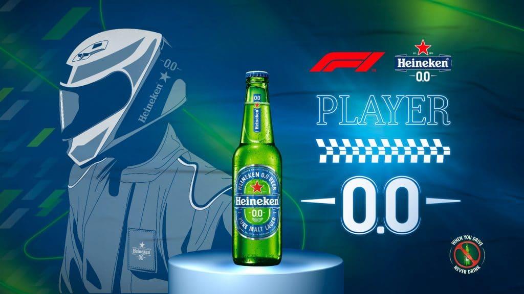 A Heineken 0.0, patrocinadora global da F1, convida os fãs de games e automobilismo para participarem do torneio em busca do Player 0.0.