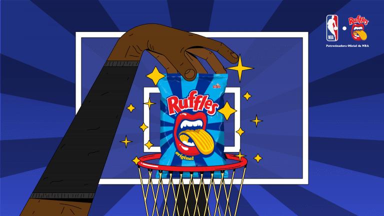 Ruffles é o snack oficial da NBA no Brasil.