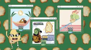 """A Piraquê lança o """"Batatismo"""", transformando os novos Snacks de Batata em verdadeiras obras de arte na campanha de lançamento dos produtos."""
