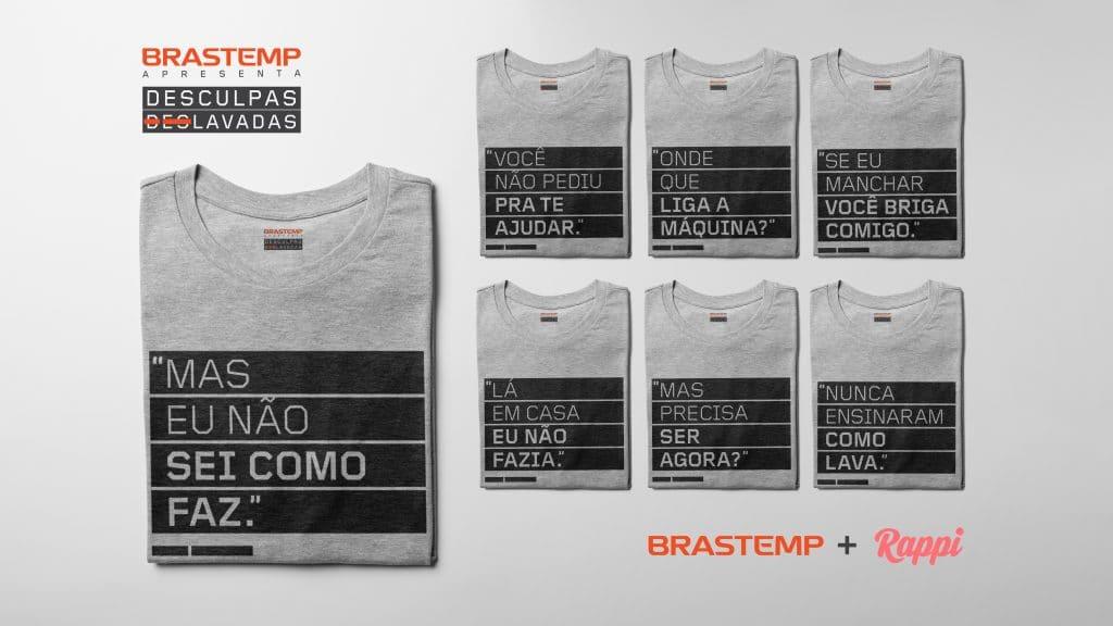 A Brastemp, dá continuidade à campanha lançada em agosto, e disponibiliza aos consumidores as camisas da campanha por 1 centavo + frete.
