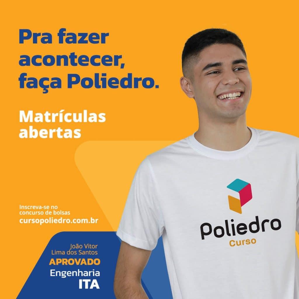 Poliedro Curso lança nova campanha de matrículas, visando estimular os estudantes a conquistar seus sonhos independentemente da carreira.
